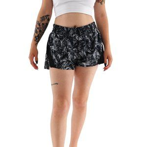 HYLETE Palm Print Running Shorts With Panty #PP9